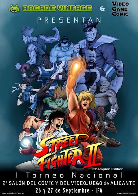 Arcade Vintage organiza el torneo nacional de Street Fighter II en el salón del cómic y del videojuego de Alicante