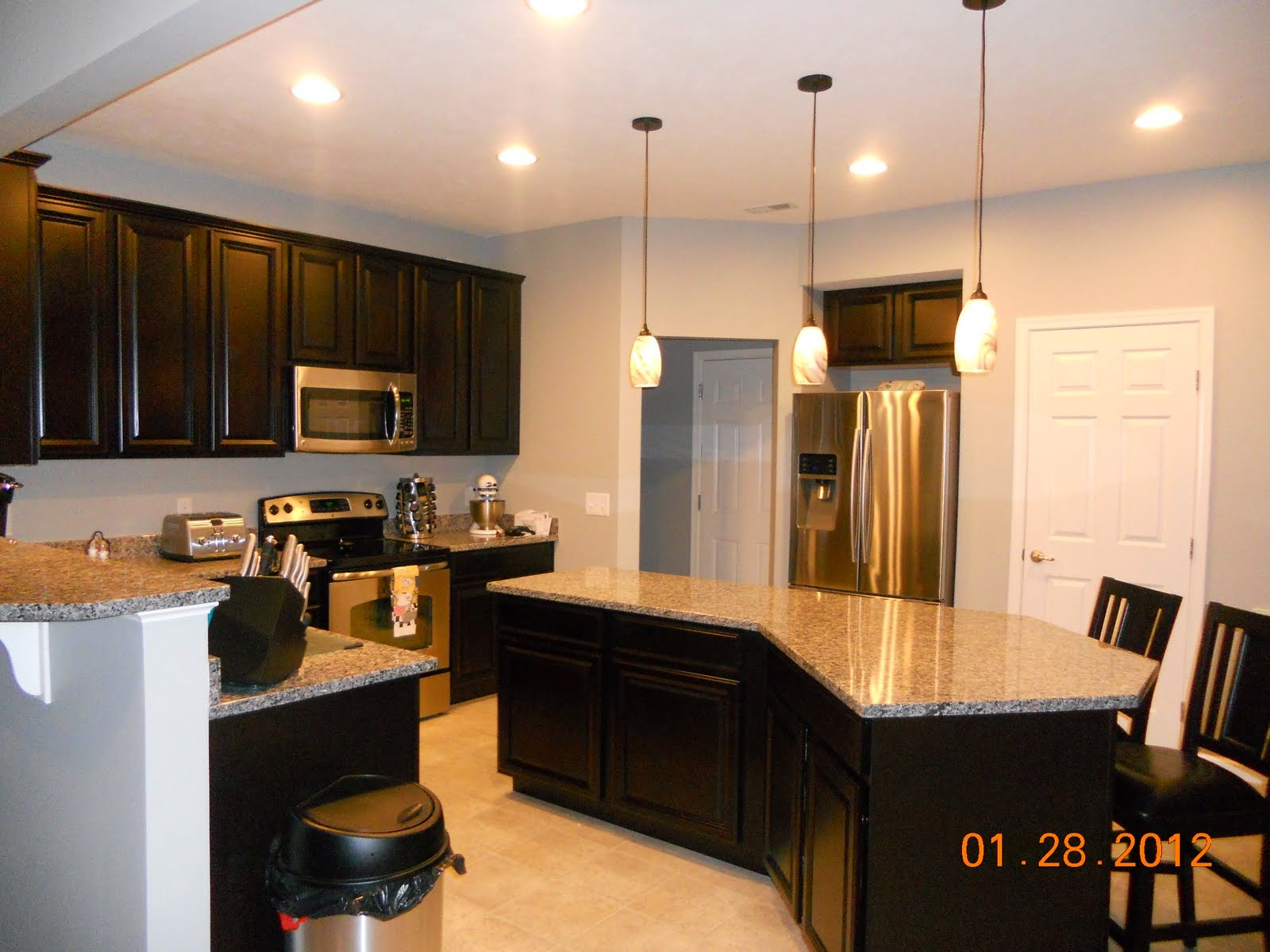 Building our venice with ryan homes colors cabinets and for Kitchen cabinets venice fl