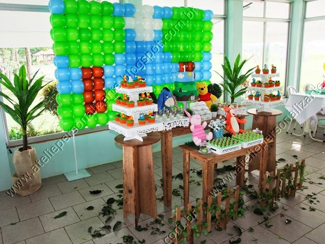 decoracao aniversario infantil ursinho pooh