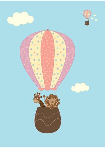 Little Sweet Designs hot air balloon girl