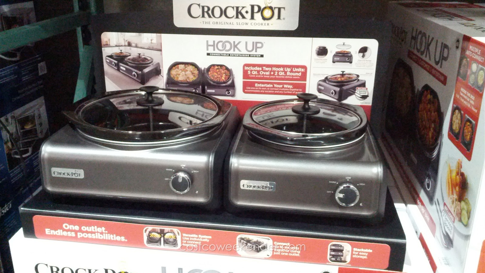 Crock Pot Hook Up Connectable Entertaining System: Great For Parties