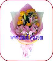 handbuket bunga ulang tahun untuk istri