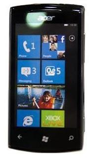 Acer W4 Windows Phone Mango OS