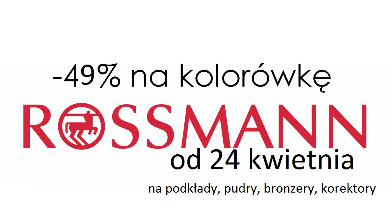 Zniżka w Rossmannie -49% + nowe promocje