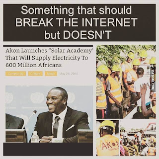 """Akon Lighting Africa"": 600 million smiles by Akon"
