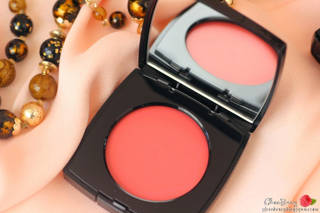 סמקים - Le Blush Creme De Chanel,  63 revelation סומק קרם שאנל chanel coral pink swatch review