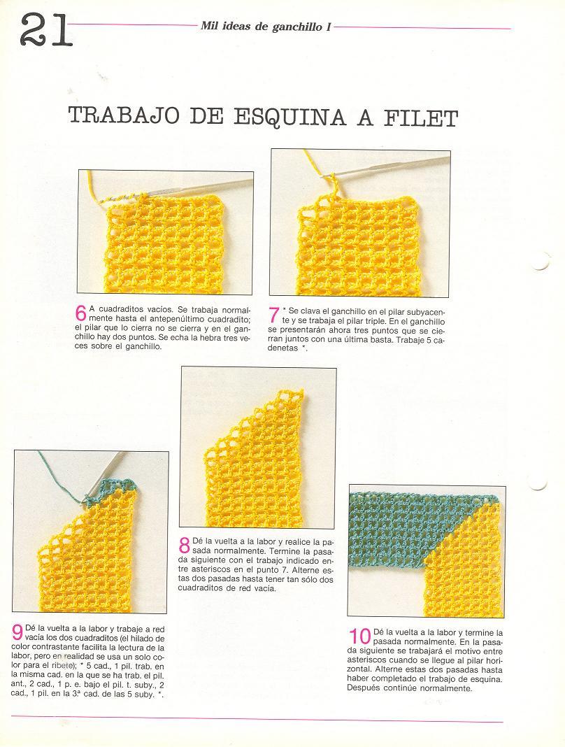 patrones asgaya: REMATES DE ESQUINA A CROCHET