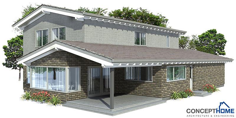 Contemporary house plans modern house plan to narrow lot for Concept home com