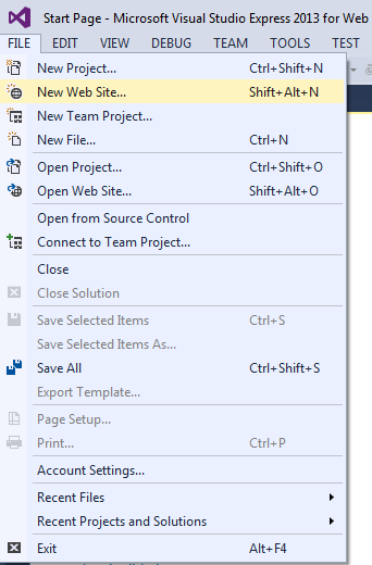 Step 1 of How to Add Store Custom Objects in Configuration File(web.config & app.config) in ASP.Net & C#.Net