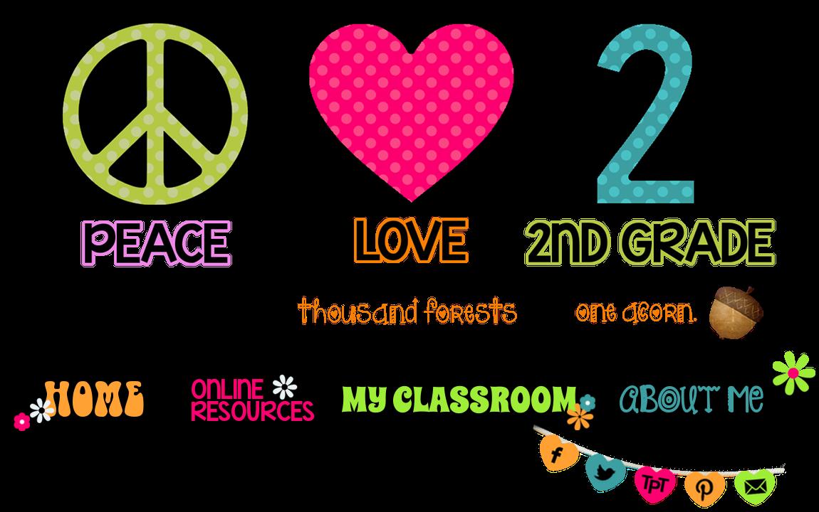 Peace Love Second Grade