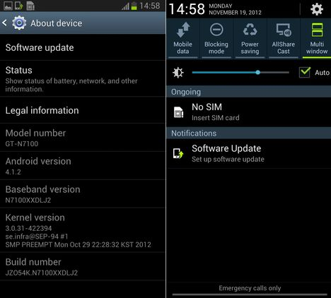 Android 4.1.2. Note 2