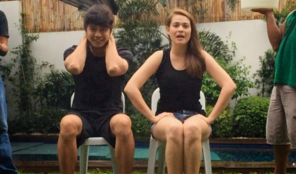 Zanjoe Maurdo and Bea Alonzo ice bucket challenge