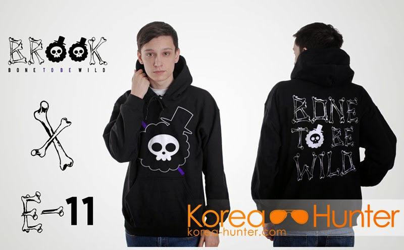 KOREA-HUNTER.com jual murah Jaket Brook 'Bone To Be Wild' (Anime One Piece) | kaos crows zero tfoa | kemeja national geographic | tas denim korean style blazer