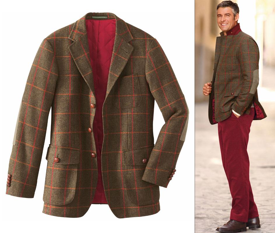 Riktigt snygg outfit i tweed och röda manchesterbyxor (om man inte är rädd  för att sticka ut med litet färg). 0b9d70727a0e4