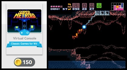 Screenshot of Super Metroid. Club Nintendo is currently offering the game for just 150 coins.