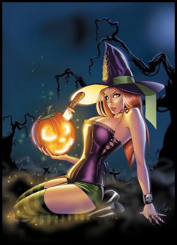 pin up Halloween