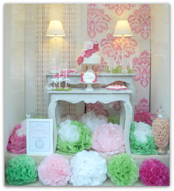 Spring dessert table Storefront by BistrotChic