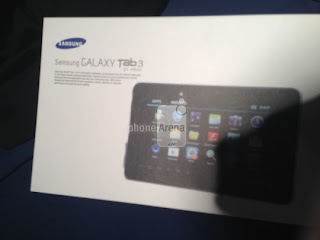 Samsung Galaxy Tab 3 Leaked Box