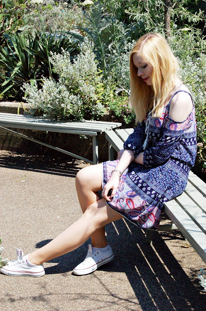 Bohemia Dress Boho Parsley Pattern OOTD Inspiration Blonde Girl Fashionblogger Blogger Fashion outfit of the day