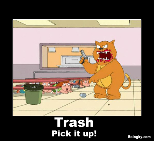 trash pick it up