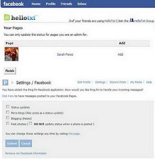 Update status tanpa login dengan facebook
