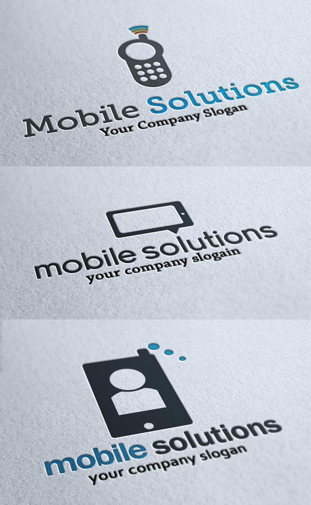 3 Mobile Logo Templates