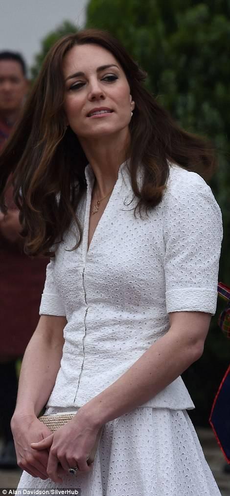 Leaving Bhutan Kate Wears Pretty Necklace from Queen of Bhutan