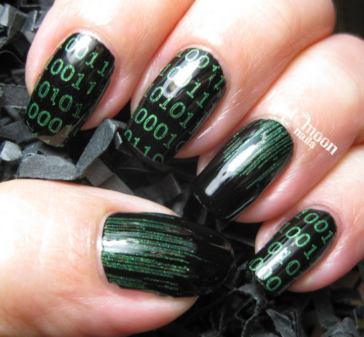 Light of the Moon Nails: Matrix Nail Art for the Nail Challenge ...