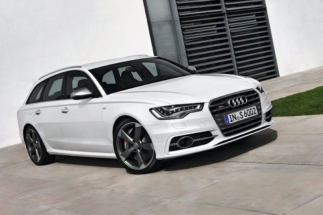 2013 Audi S6 Avant White Wallpaper