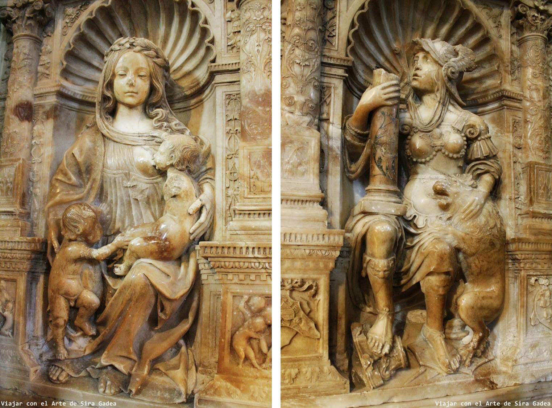 Tostado Trasaltar Catedral Ávila Virtudes