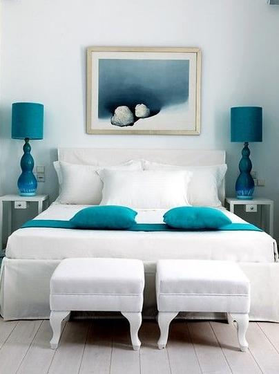A pedido de uma Leitora Quartos com azul turquesa  ~ Quarto Pintado De Azul Turquesa