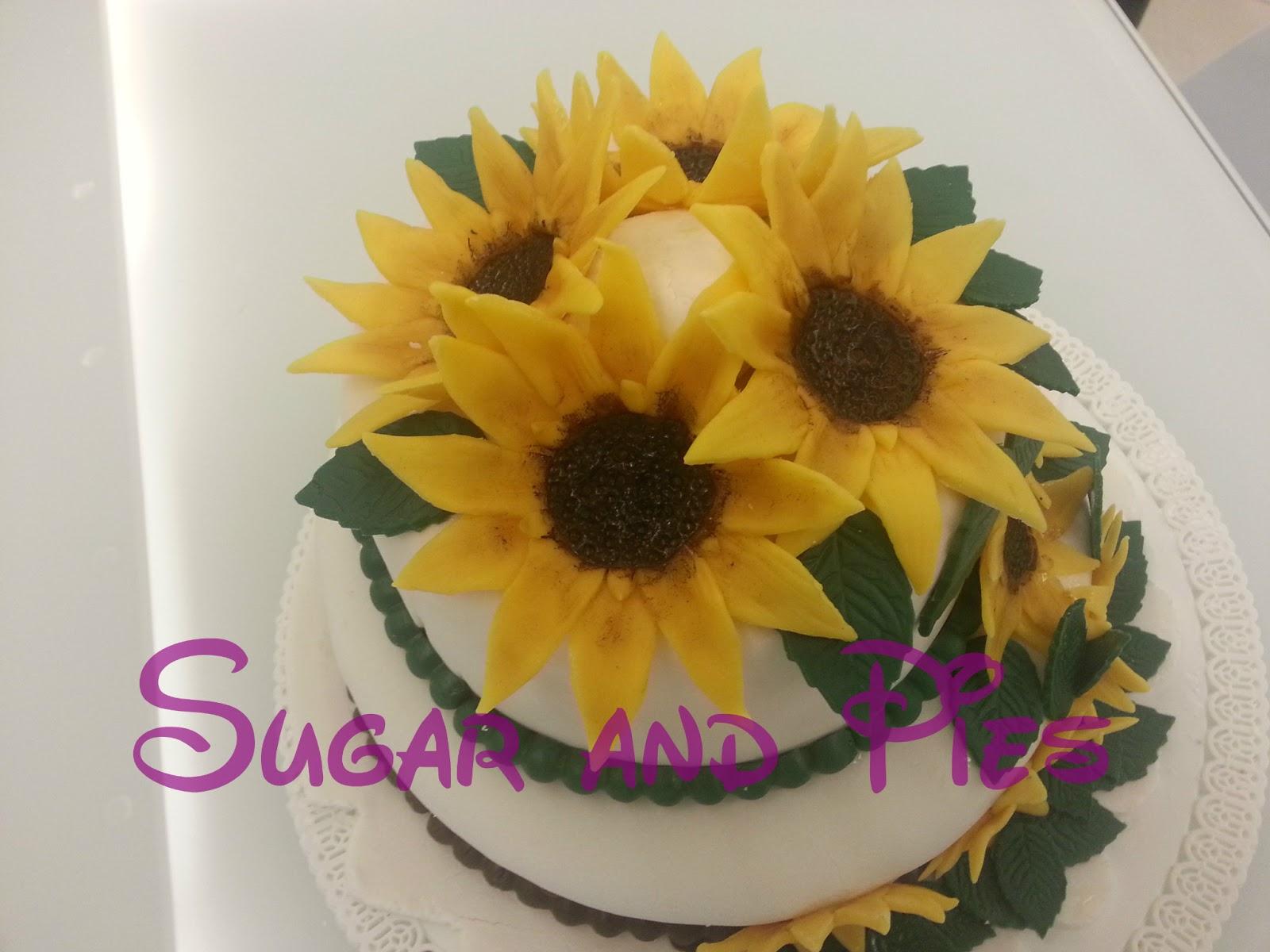 Torta Matrimonio Girasoli : Sugar and pies una torta con i miei girasoli