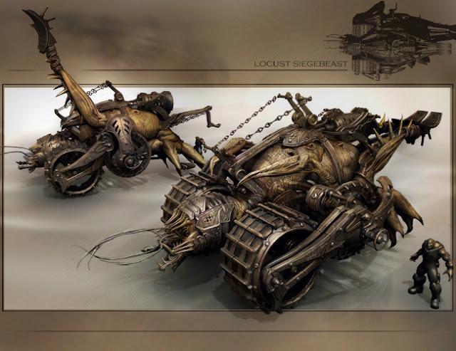locust seige beast concept artwork