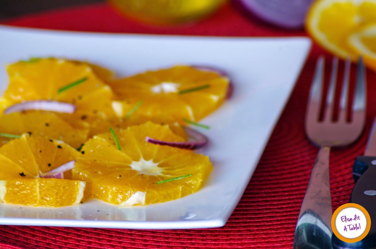 recette Salade d'orange