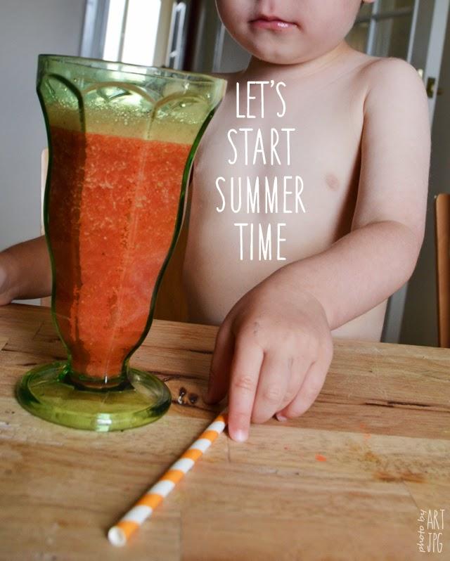 dzieck, napój, lato, orzeźwienie