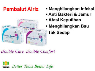 AIRIZ SANITARY NAPKIN (PEMBALUT WANITA)
