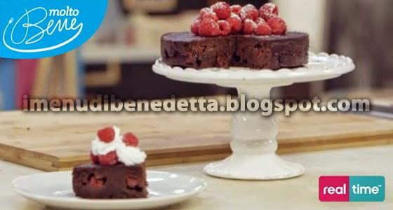 Torta Cioccolato e Lamponi di Benedetta Parodi