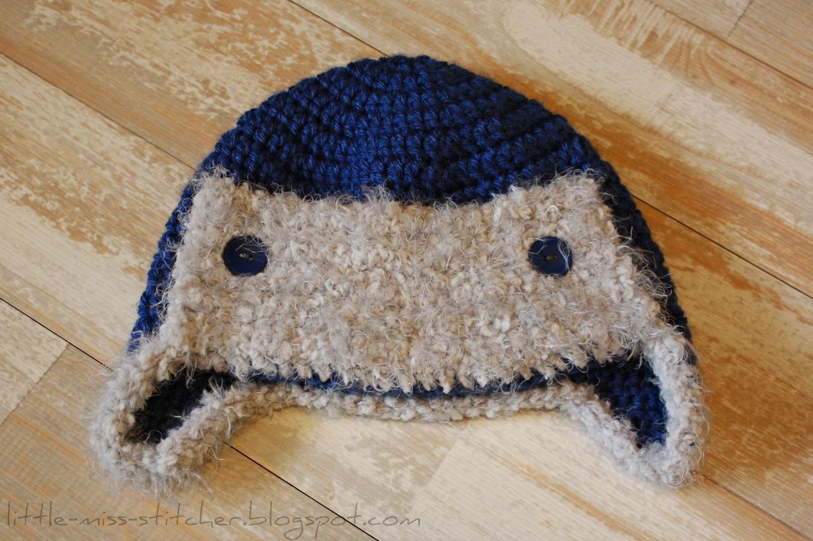 http://little-miss-stitcher.blogspot.com/2013/11/crochet-toddler-aviator-hat.html