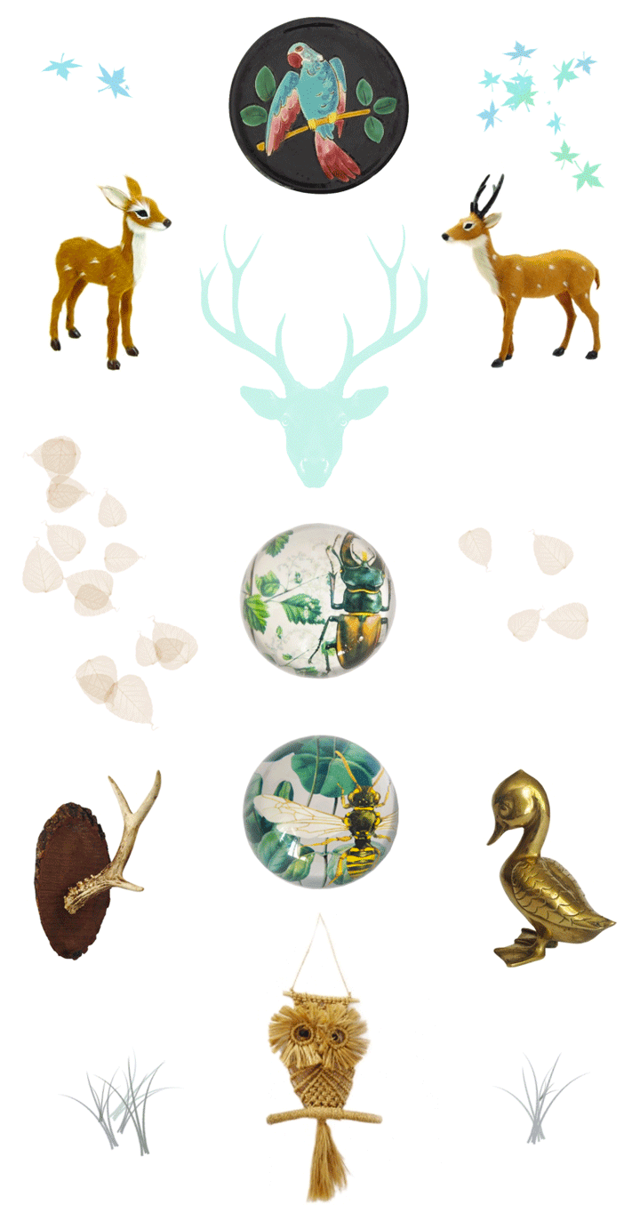 Lovers of mint blog d co boh me et cool lifestyle for Objet deco animaux