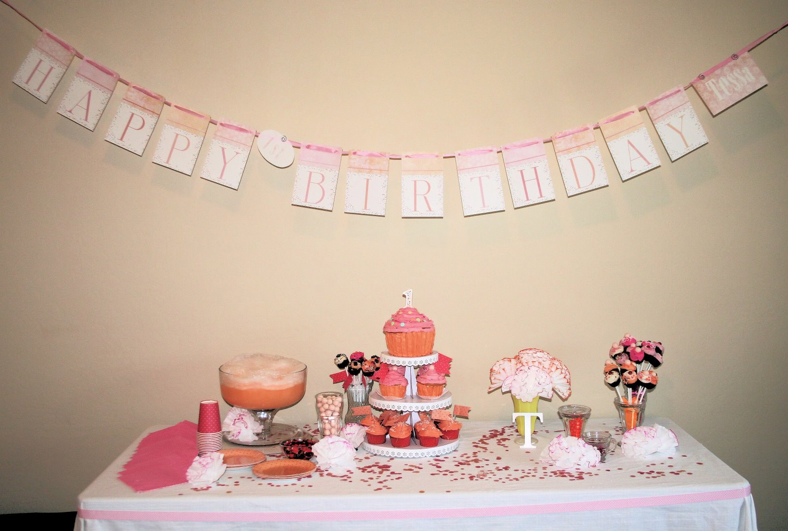 Baby Girl 1st Birthday Party