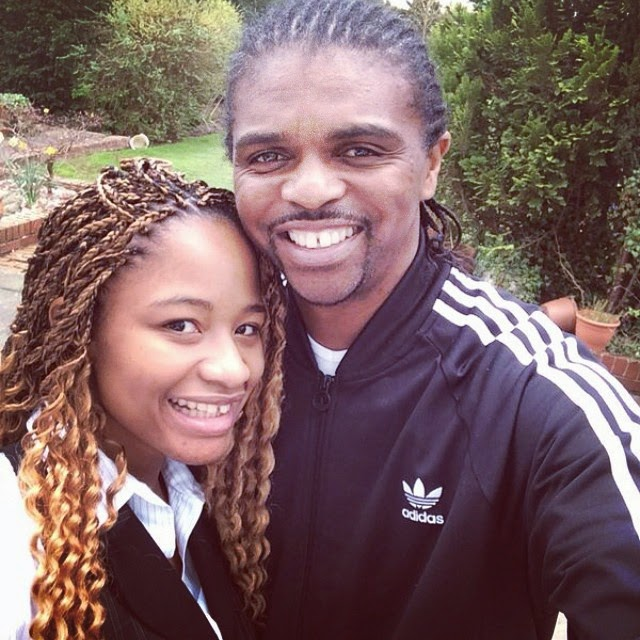 AWWW! Kanu Nwankwo and His Beautiful Wife