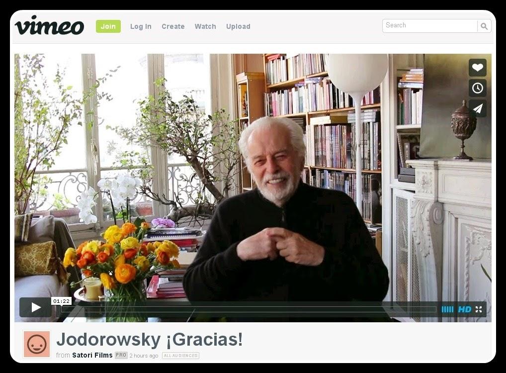"""Alejandro Jodorowsky Transmite Su Agradecimiento Por El Valioso Aporte A """"Poesía Sin Fin"""" (Vídeo)"""