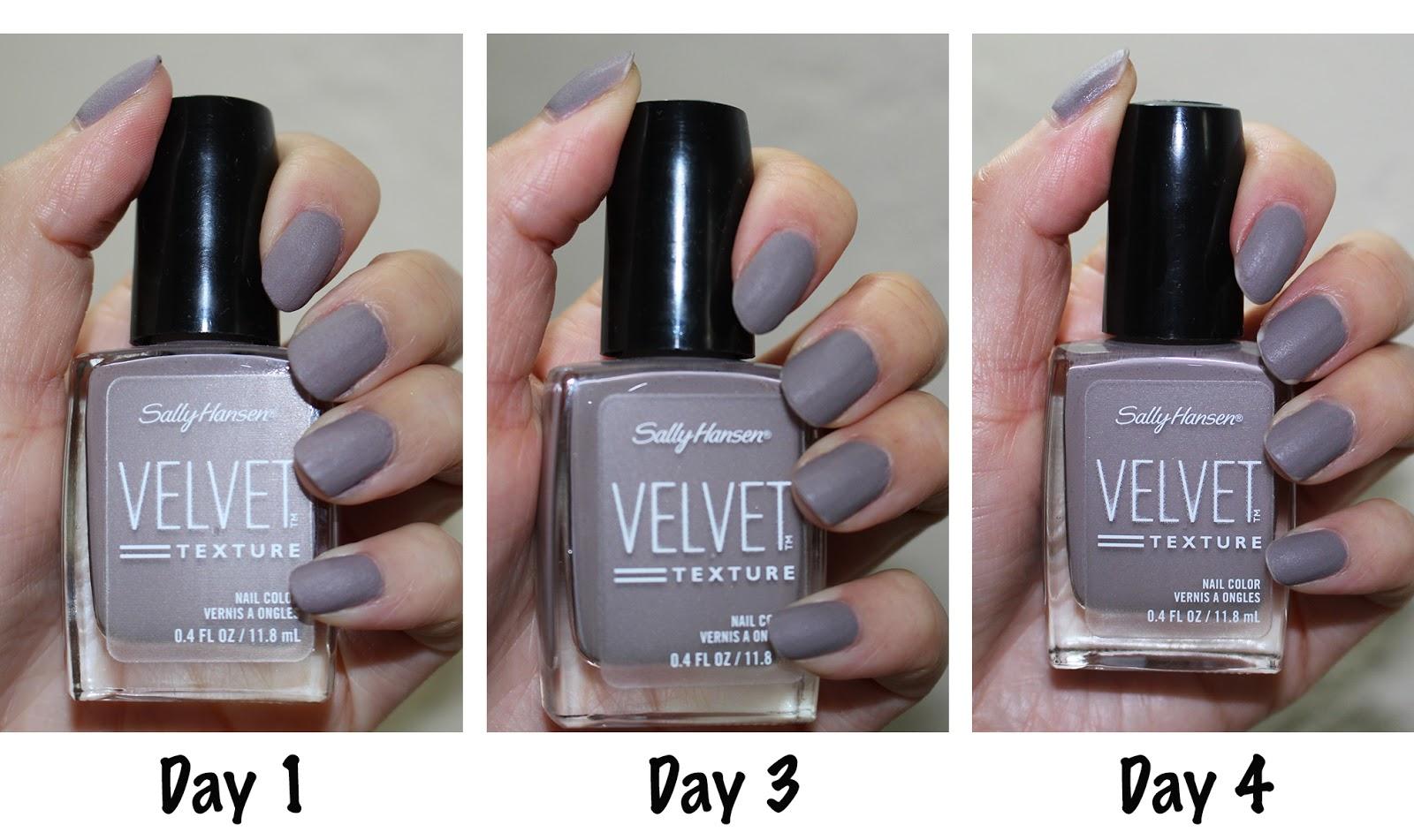 Nails: Sally Hansen Velvet Texture Nail Color in \