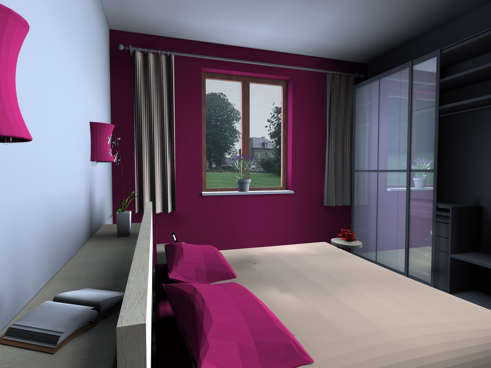I. D. & A. 3 Interior Designers & Architects: Una camera da letto colorata.
