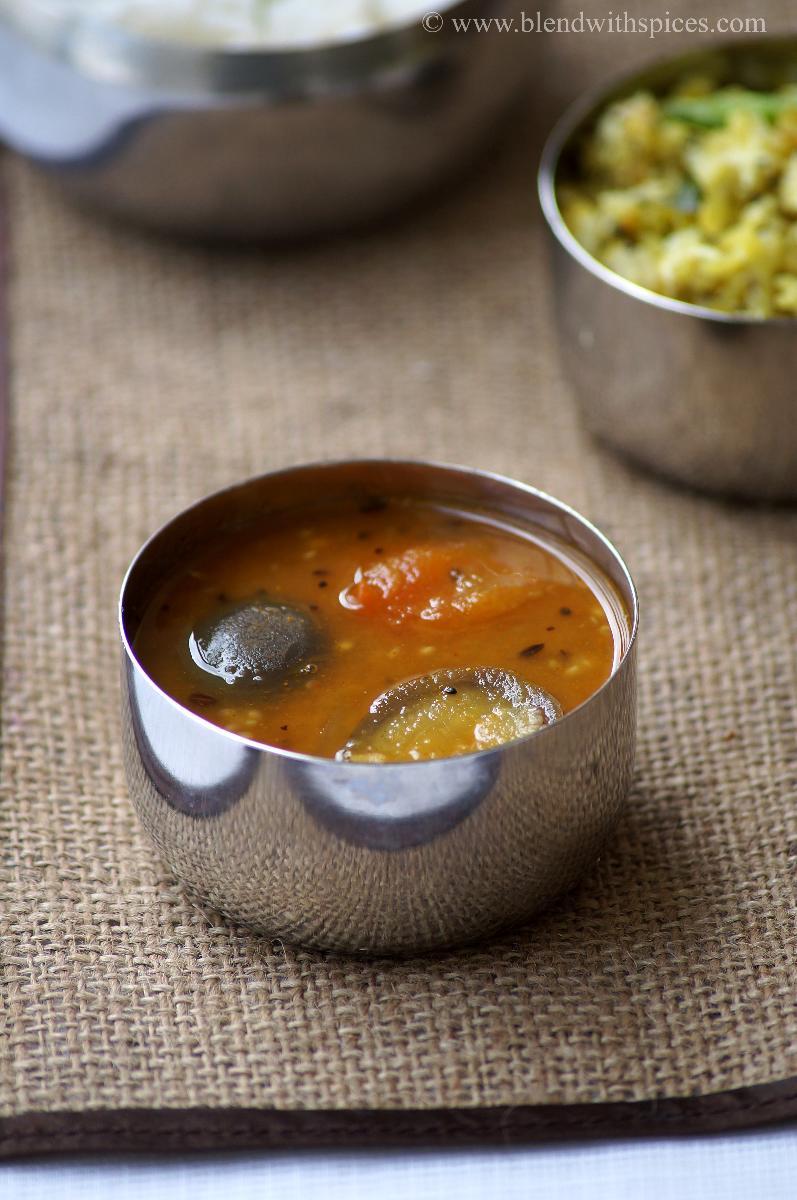 Vankaya Sambar RecipeKathirikai SambarSouth Indian Brinjal