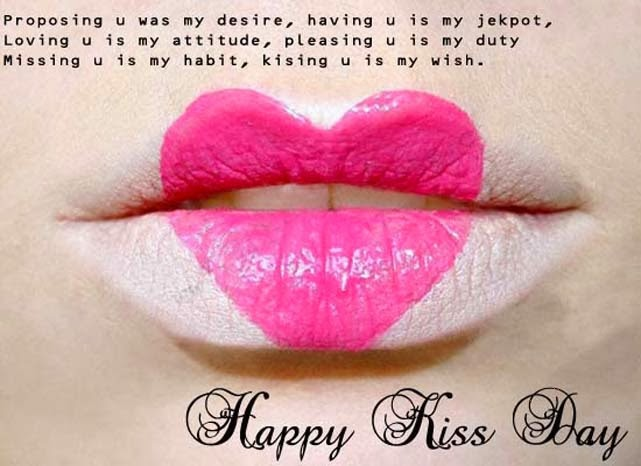 Happy kiss day images 2014 romantic and hot lips photos
