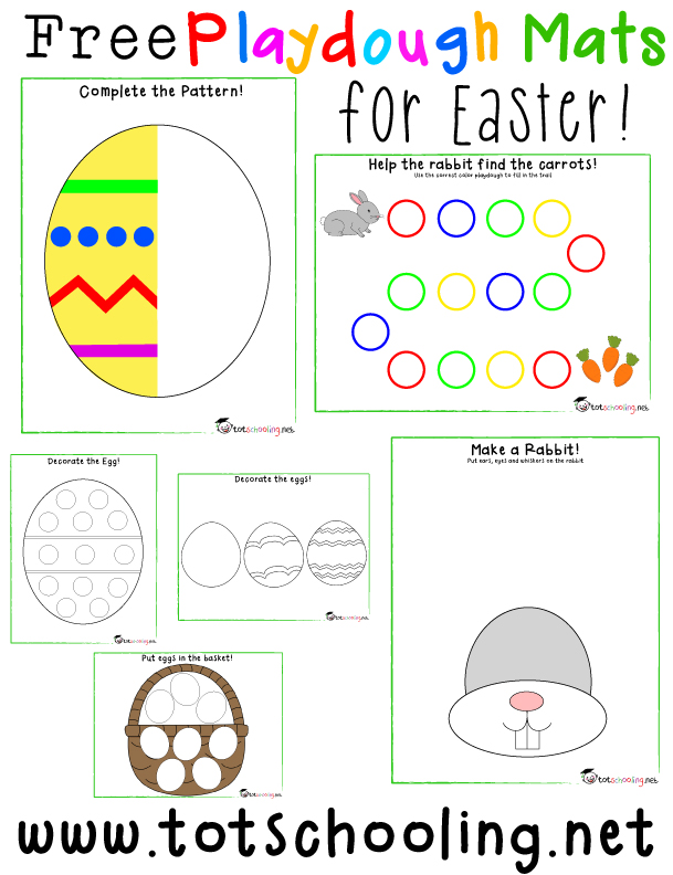 Free Easter Playdough Mats Totschooling Toddler And