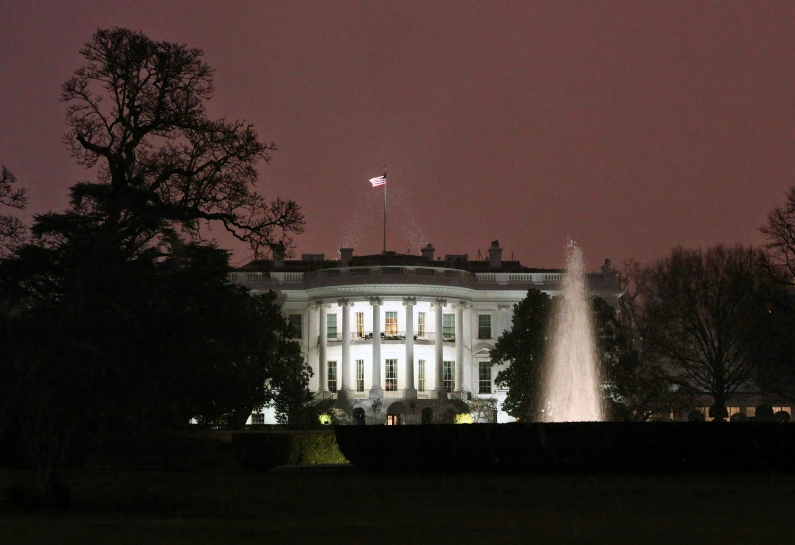 White House in the Evening