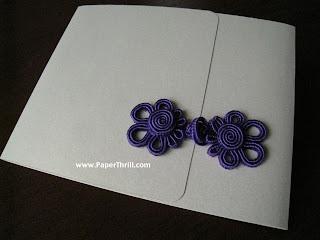 Dainty oriental knots wedding invitation