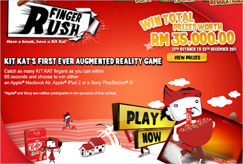Kit Kat 'Finger Rush' Contest